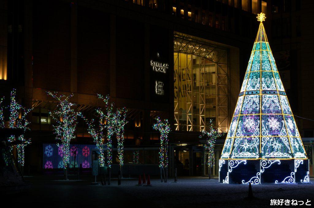 札幌駅南口駅前広場イルミネーション音と光の憩いのスポット