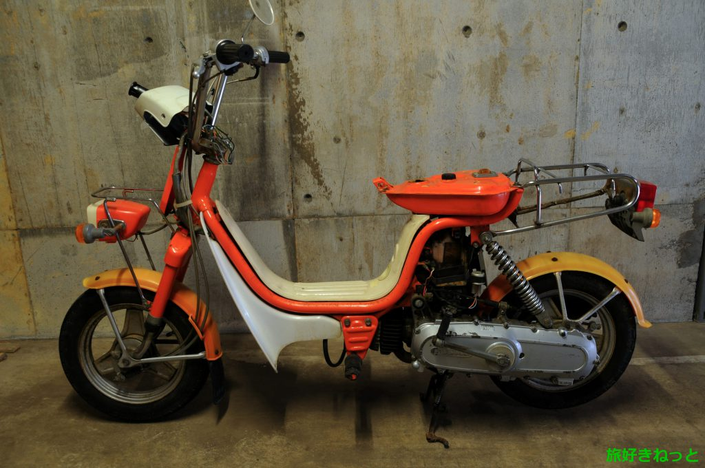 ユーディミニの原付バイクを中古で激安購入!修理しないと乗れない