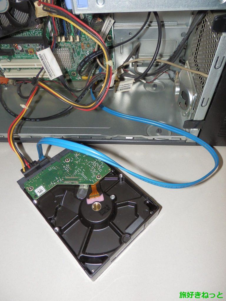 デスクトップPCのデータをUSB接続なしでHDDにコピーする方法