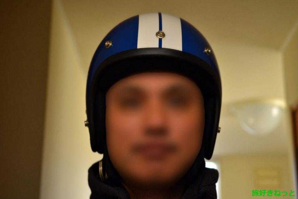 『ダムトラックス』のバイクヘルメットをおっさんが被ってみた