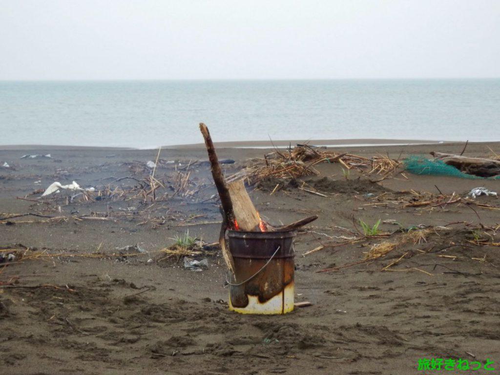 海で焚き火をしてきました。※海で焚き火が違法になる禁止場所