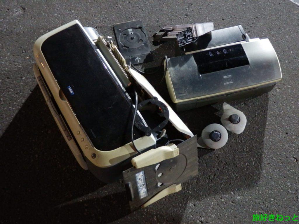 ホーマック隣のじゅんかんコンビニ24でプリンターを捨ててきた